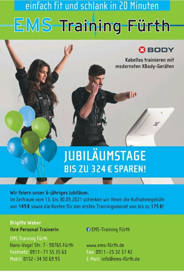Jubiläumsflyer EMS Fürth